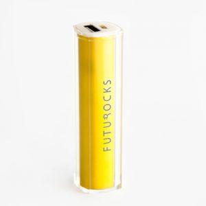Futurocks Mini Power Bank 2600 mAh Yellow