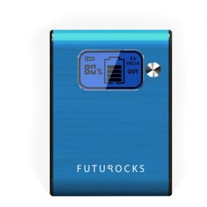 Futurocks LCD Power Bank 5200 mAh with Flash Light – Blue