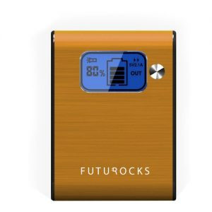Futurocks LCD Power Bank 5200 mAh with Flash Light – Gold