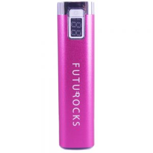 Futurocks LCD Power Bank 2600 mAh – Pink