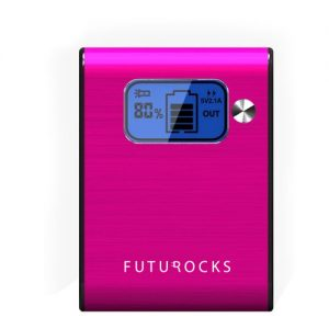 Futurocks LCD Power Bank 5200 mAh with Flash Light – Pink