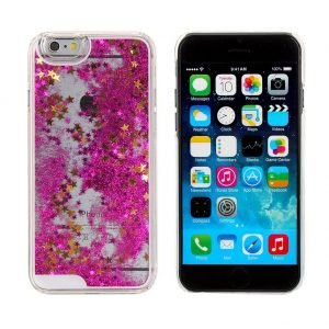 Falling Stars Liquid Glitter 3D Bling case cover for iPhone 6 – pink