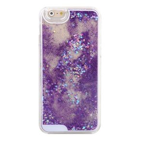 Falling Stars Liquid Glitter 3D Bling case cover for iPhone 6 – purple