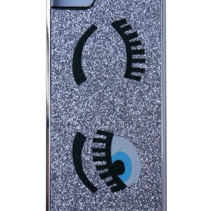 Futurocks Eyes Glitter Bling 3D Case Cover for iPhone 5/5s – Silver