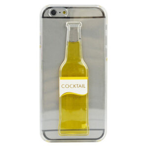 Cocktail Bottle Moving Liquid 3D Cover Case for iPhone 6
