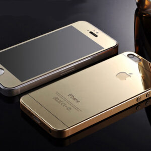 Mirror Effect Tempered Glass Screen Protector for iPhone 5/5s, 6, 6 plus (front & back) – Gold