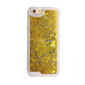 Falling Stars Liquid Glitter 3D Bling case cover for iPhone 5/5s – gold