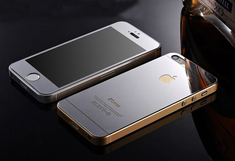screen mirroring iphone 5 mirror effect tempered glass screen protector for iphone 5 16066
