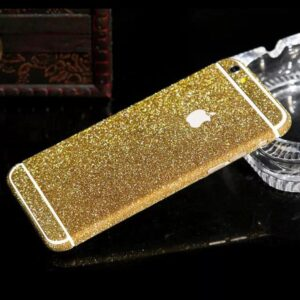 Glitter Bling Full Body Vinyl Decal Wrap Sticker Skin for iPhone  5, 5s, 6, 6s – Gold