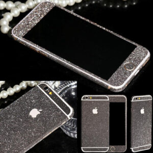 Glitter Bling Full Body Vinyl Decal Wrap Sticker Skin for iPhone  5, 5s, 6, 6s – Black