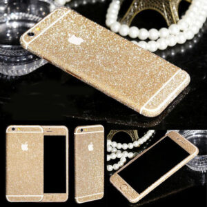 Glitter Bling Full Body Vinyl Decal Wrap Sticker Skin for iPhone  5, 5s, 6, 6s – Champagne