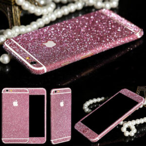 Glitter Bling Full Body Vinyl Decal Wrap Sticker Skin for iPhone  5, 5s, 6, 6s – Pink