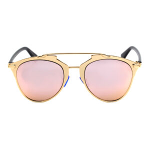 Rose Gold Mirrored Aviator Sunglasses 400 UV with Free Case