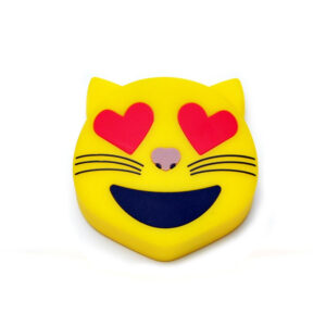 Emoji Cat Heart Eyes Portable Charger Power Bank 2600 mAh