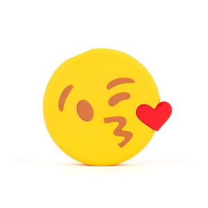 Emoji Blowing Kisses Portable Charger Power Bank 2600 mAh