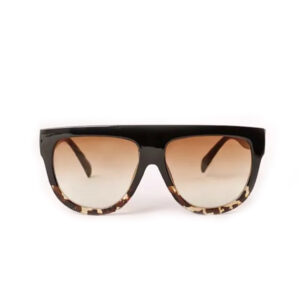BLACK FLAT TOP OVERSIZED TORTOISE SHELL WOMEN'S SUNGLASSES 400 UV FREE CASE UK