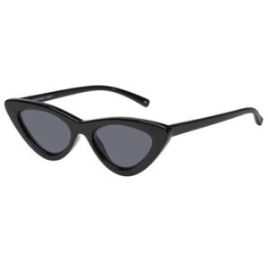 BLACK LOLITA SMALL RETRO VINTAGE CAT EYE SUNGLASSES 400 UV FREE CASE