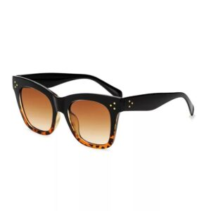 OVERSIZED TORTOISE SHELL TILDA STYLE CAT EYE SUNGLASSES 400 UV FREE CASE
