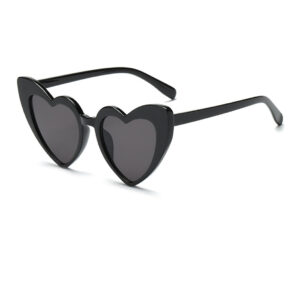 HEART OVERSIZED RETRO VINTAGE CAT EYE SUNGLASSES 400 UV FREE CASE