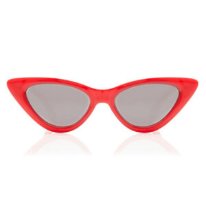 RED LOLITA SMALL RETRO VINTAGE CAT EYE SUNGLASSES 400 UV FREE CASE