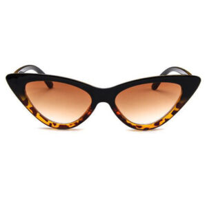 BLACK TORTOISE SHELL LOLITA SMALL RETRO VINTAGE CAT EYE SUNGLASSES 400 UV FREE CASE