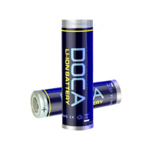2 x DOCA® 18650 2600mAh 3.7V Rechargeable Flat Top Battery Free Case