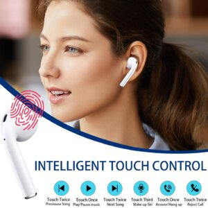 i12 5.0 TWS Bluetooth Wireless Touch Control Earphones – White